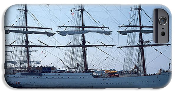 Sailing iPhone Cases - Harbor Maneuvers At A Harbor, Rosmeur iPhone Case by Panoramic Images
