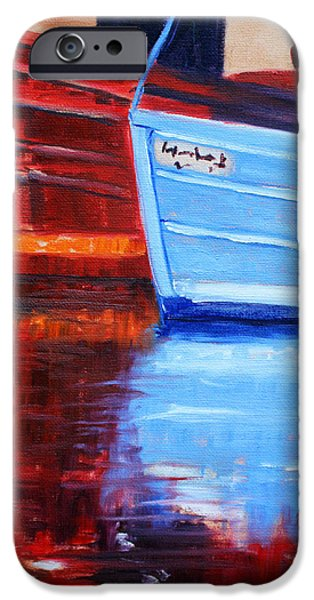 Crops iPhone Cases - Harbor Reflection iPhone Case by Nancy Merkle