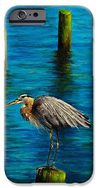 Bob Ross Paintings iPhone Cases - Harbor Sentry iPhone Case by C Steele