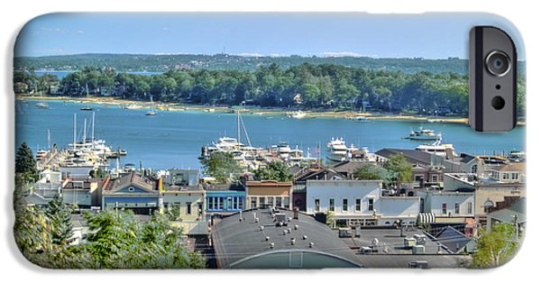 Bill Gallagher Photographs iPhone Cases - Harbor Springs Michigan iPhone Case by Bill Gallagher