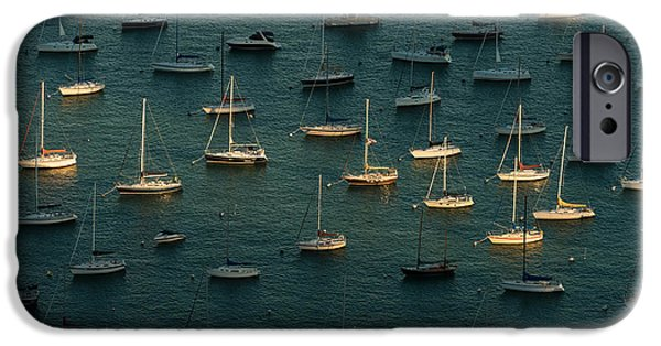Sailboat iPhone Cases - Harbor Sunset Chicago iPhone Case by Steve Gadomski