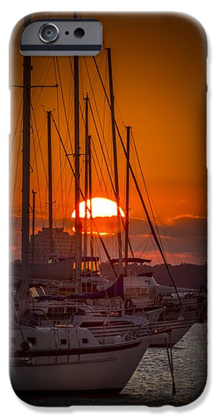 Sailboat Photographs iPhone Cases - Harbor Sunset iPhone Case by Marvin Spates
