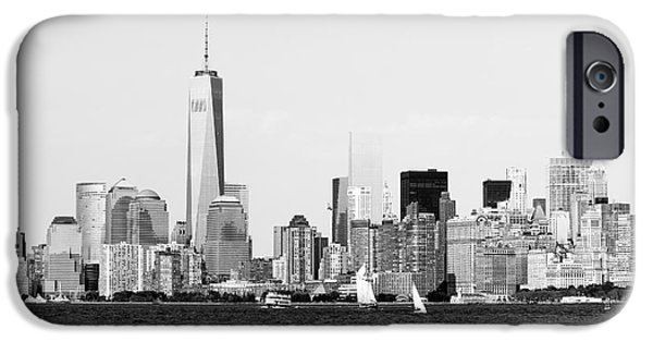 Financial Interest iPhone Cases - Harbor View of NYC iPhone Case by Robert Yaeger
