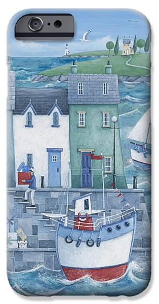 House iPhone Cases - Harbour Gifts iPhone Case by Peter Adderley
