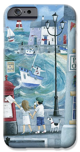 House iPhone Cases - Harbour Post iPhone Case by Peter Adderley