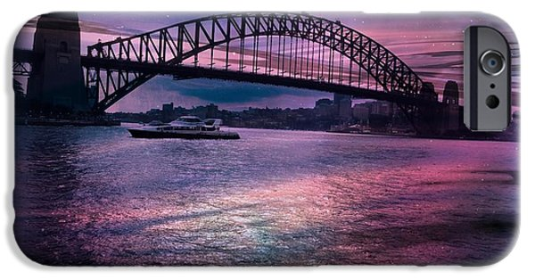 Bay Bridge Mixed Media iPhone Cases - Harbour Romance iPhone Case by Leanne Seymour