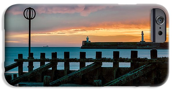 Marker iPhone Cases - Harbour Sunrise iPhone Case by Dave Bowman