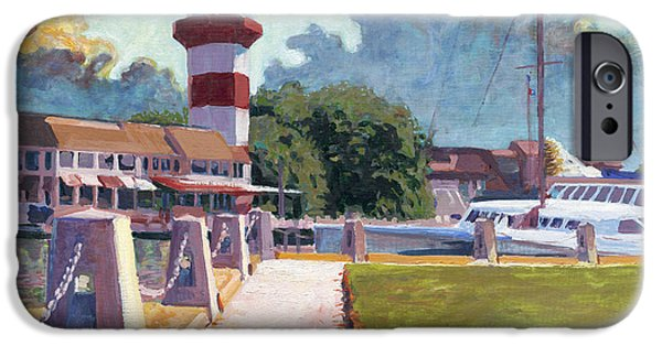 Head Harbour Lighthouse iPhone Cases - Harbour Town Light iPhone Case by David Randall