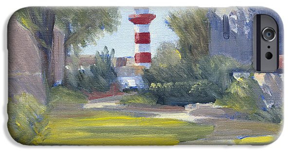 Head Harbour Lighthouse iPhone Cases - Harbour Town Lighthouse Path iPhone Case by Candace Lovely