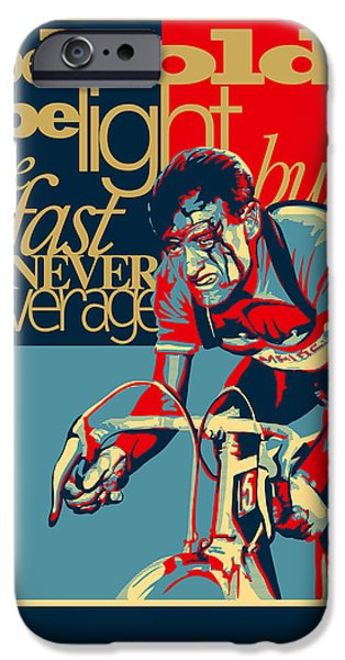 Urban Art iPhone Cases - Hard as Nails vintage cycling poster iPhone Case by Sassan Filsoof