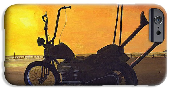 David iPhone Cases - Hard Tail Sunset iPhone Case by Scott Wilson
