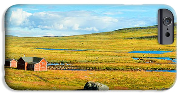Norwegian Sunset iPhone Cases - Hardangervidda in Norway iPhone Case by JR Photography