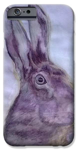 March Hare iPhone Cases - Hare iPhone Case by Natalie Holden