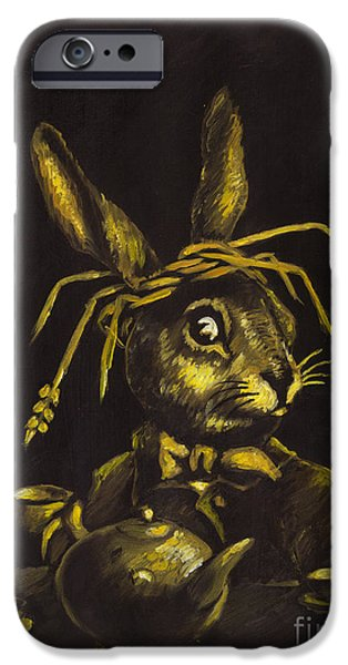 Hare iPhone Case by Suzette Broad