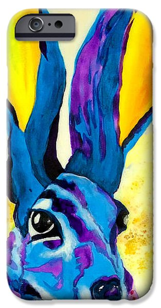 Alice In Wonderland iPhone Cases - Hare Today Hare Tomorrow iPhone Case by Jeanne Treschuk