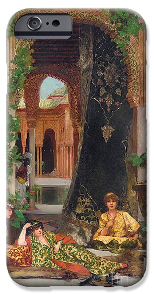 Seraglio Paintings iPhone Cases - Harem Women iPhone Case by Jean Joseph Benjamin Constant