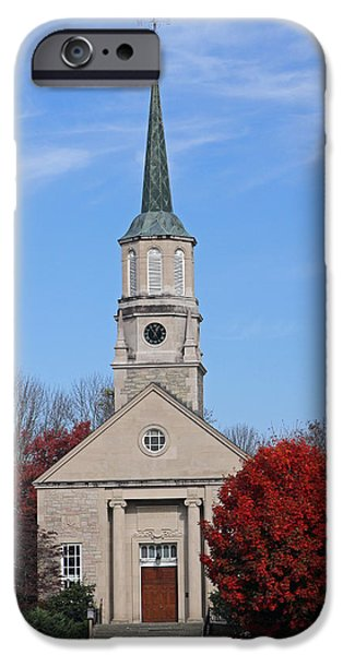 National Treasure iPhone Cases - Harkness Chapel at Connecticut College iPhone Case by Juergen Roth