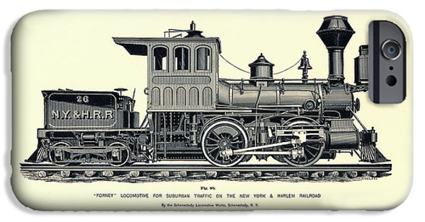 Antiques iPhone Cases - Harlem Locomotive iPhone Case by Gary Grayson