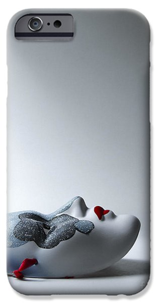Masks iPhone Cases - Harlequin iPhone Case by Diane Diederich