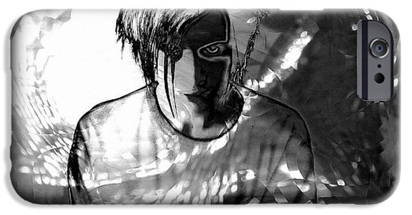 Young Digital Art iPhone Cases - Harlequin iPhone Case by Gun Legler