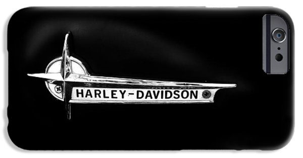Transport iPhone Cases - Harley Black Tank iPhone Case by Mark Rogan