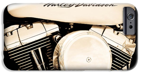 Model iPhone Cases - Harley Davidson iPhone Case by Athena Mckinzie