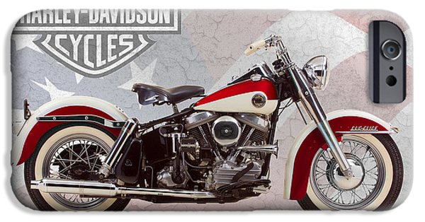 Glides iPhone Cases - Harley-Davidson Duo-Glide iPhone Case by Mark Rogan