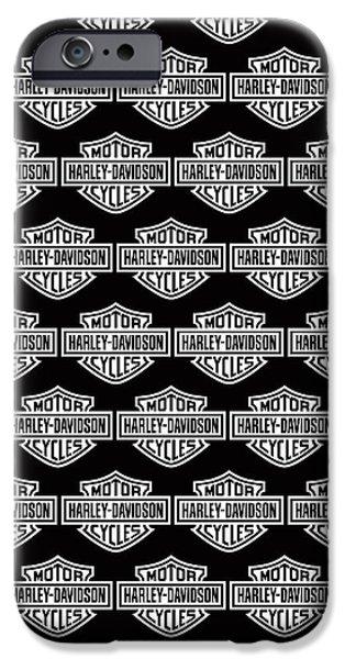 Harley Davidson Photographs iPhone Cases - Harley Davidson logo black phone case iPhone Case by Mark Rogan