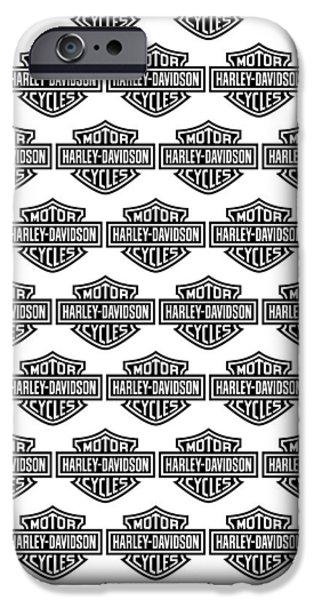 Harley Davidson Photographs iPhone Cases - Harley Davidson Logo Phone Case iPhone Case by Mark Rogan