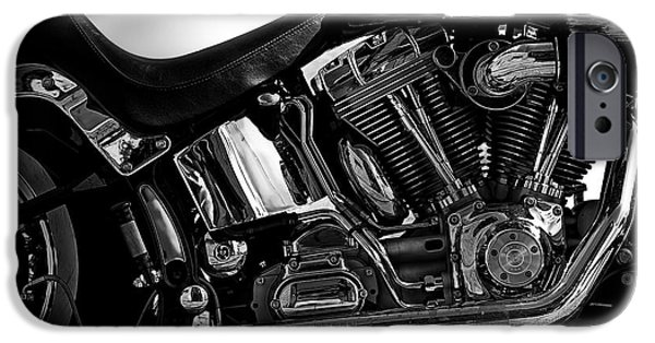 Drama iPhone Cases - Harley Davidson  Military  iPhone Case by Bob Orsillo