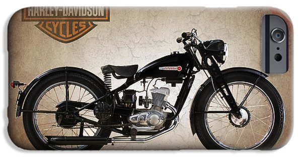 Best Sellers -  - Model iPhone Cases - Harley-Davidson Model S 1948 iPhone Case by Mark Rogan