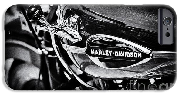 Badge iPhone Cases - Harley Davidson Monochrome iPhone Case by Tim Gainey