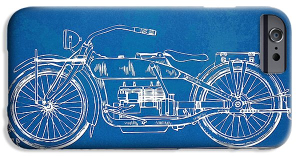 Horsepower iPhone Cases - Harley-Davidson Motorcycle 1919 Patent Artwork iPhone Case by Nikki Marie Smith