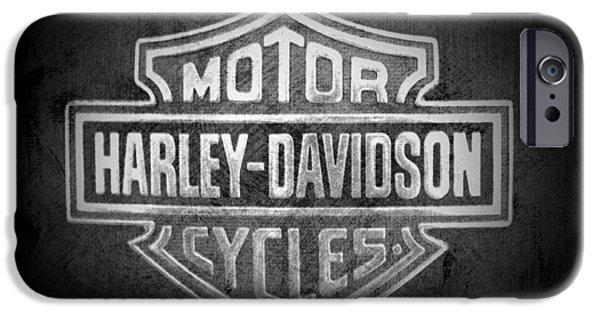 Jeff Swanson iPhone Cases - Harley Davidson Motorcycle iPhone Case by Jeff Swanson