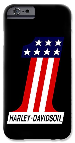 Stars Photographs iPhone Cases - Harley Davidson No1 Phone Case iPhone Case by Mark Rogan