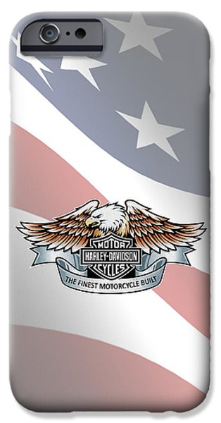 Iphone iPhone Cases - Harley Davidson Phone Case iPhone Case by Mark Rogan