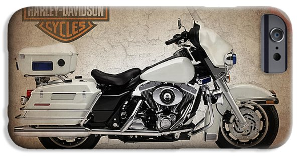 Best Sellers -  - Police iPhone Cases - Harley Davidson Police Electra Glide iPhone Case by Mark Rogan