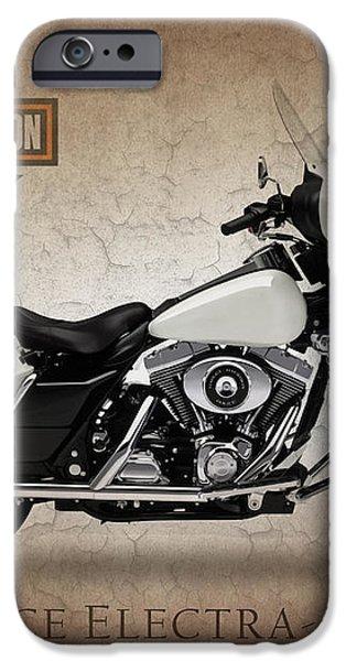 Harley Davidson Police Electra Glide iPhone Case by Mark Rogan