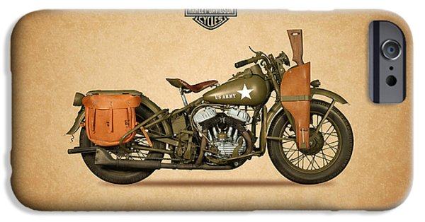 Glides iPhone Cases - Harley Davidson WLA Army iPhone Case by Mark Rogan
