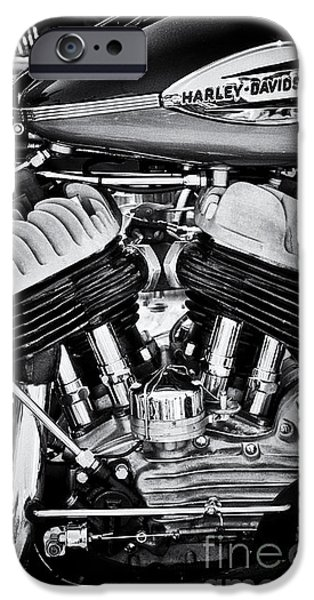 Badge iPhone Cases - Harley Davidson WLA Monochrome iPhone Case by Tim Gainey