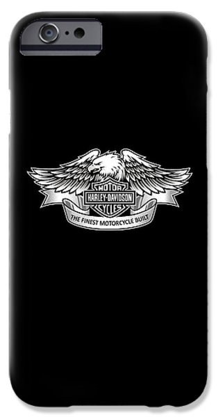 Phone iPhone Cases - Harley Eagle Phone Case iPhone Case by Mark Rogan