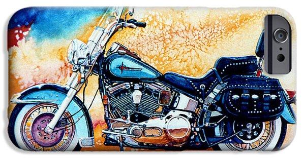 Motor iPhone Cases - Harley Hog i iPhone Case by Hanne Lore Koehler