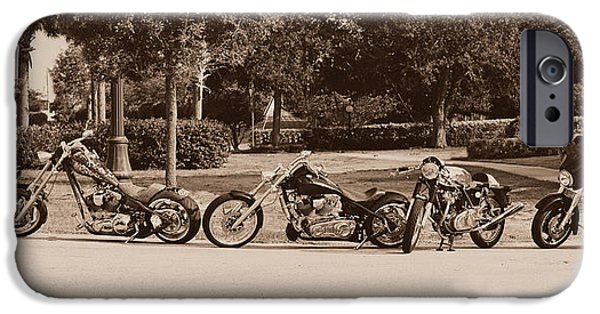 Custom Made iPhone Cases - Harley Line up iPhone Case by Laura  Fasulo