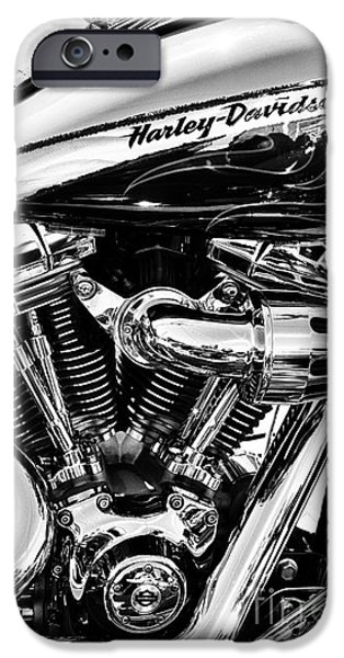 Cylinders iPhone Cases - Harley Monochrome iPhone Case by Tim Gainey