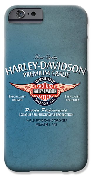 Iphone iPhone Cases - Harley Premium Grade Phone Case iPhone Case by Mark Rogan