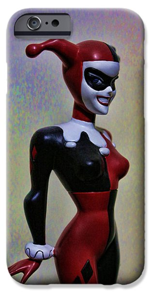 Modern World Photography iPhone Cases - Harley Quinn the Harlequin iPhone Case by Lee Dos Santos