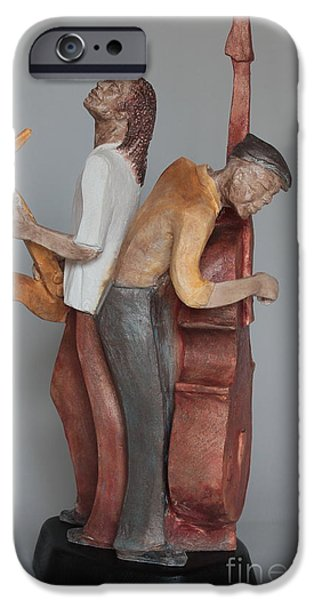 Celebrities Sculptures iPhone Cases - Harmonizing in D iPhone Case by Wayne Headley
