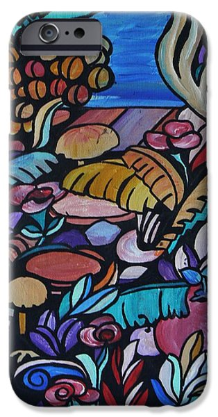 By Barbara St Jean iPhone Cases - Harmony Garden iPhone Case by Barbara St Jean