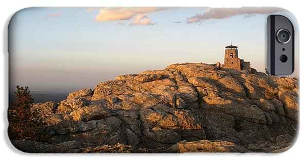 Summit iPhone Cases - Harney Peak at Dusk iPhone Case by Daniel  Taylor