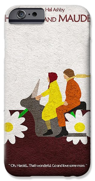 Creative Drawings iPhone Cases - Harold and Maude iPhone Case by Ayse Deniz